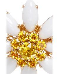 Dolce & Gabbana - Metallic Crystal And Glass Edelweiss Earrings - Lyst