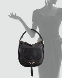 Chloé Marcie Medium Hobo Bag Black
