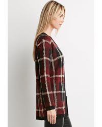Forever 21 - Black Plaid Open-front Cardigan - Lyst