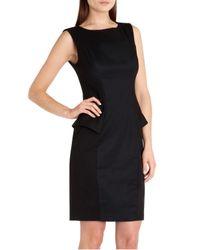 Ted Baker Black Aneta Structured Peplum Dress