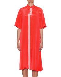 ROKSANDA Pink Irvina A-line Silk Midi Dress