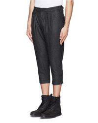 The Viridi-anne - Gray Pleat Front Crop Pants for Men - Lyst