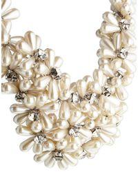 ALDO - White Nelanna Pearl Flower Necklace - Lyst