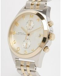 Marc By Marc Jacobs | Metallic Mbm3381 Slim Chronograph Watch | Lyst