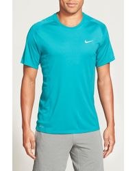 Nike | Green 'Miler' Dri-Fit Uv Protection T-Shirt for Men | Lyst