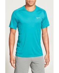 Nike | Green 'Miler' Dri-Fit Uv Protection T-Shirt for Men | Lyst