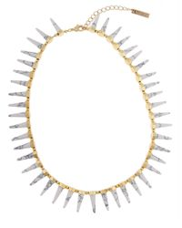 Rachel Zoe | Metallic 12K Gold Cleo Spike Necklace | Lyst