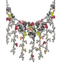 BCBGMAXAZRIA - Black Multi-teardrop Necklace - Lyst