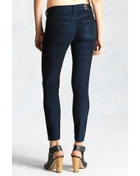 True Religion | Blue Halle Super Skinny Corduroy Cropped Womens Pant | Lyst