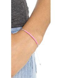 Marc By Marc Jacobs | Enamel Dipped Friendship Bracelet Blue Quartzpunch Pink | Lyst