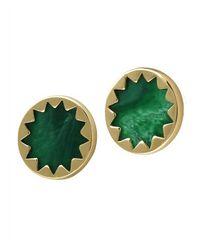 House of Harlow 1960 | Metallic Sunburst Button Earrings In Resin | Lyst