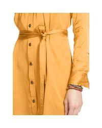 Ralph Lauren | Orange Belted Long-sleeved Shirtdress | Lyst