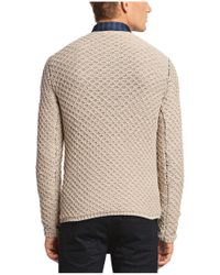 BOSS Orange - Natural Chunky Knit Sweater 'kalevi' for Men - Lyst