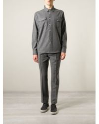 Soulland - Gray 'tom' Shirt for Men - Lyst
