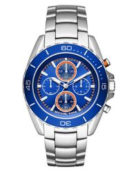 MICHAEL Michael Kors | Metallic Michael Kors 'jetmaster' Chronograph Bracelet Watch for Men | Lyst