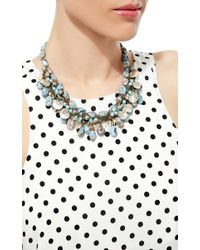 Carole Tanenbaum | Blue 1960S Unsigned Glass Turquoise Bead Necklace With Mother Of Pearl Shells | Lyst