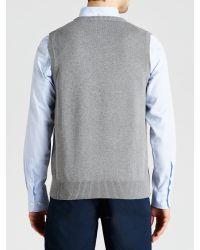 GANT Gray Solid Cotton Sleeveless Jumper for men