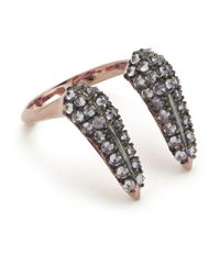 Katie Rowland - Metallic Women's Stone Studded Fang Ring - Lyst