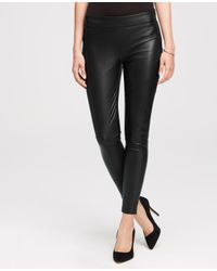 Ann Taylor | Black Faux Leather Leggings | Lyst