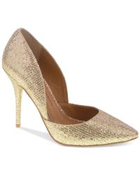Chinese Laundry | Metallic Stilo D'orsay Evening Pumps | Lyst