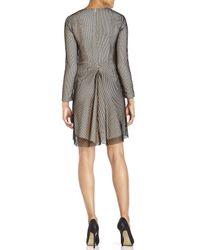 Cedric Charlier - Black V-Neck Fishnet Dress - Lyst