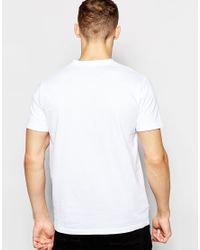 Fred Perry | T-shirt With V Neck In White for Men | Lyst