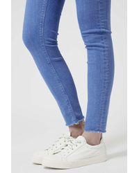 TOPSHOP - Moto Bright Blue Jamie Jeans - Lyst
