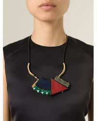 Marni | Black Geometric Necklace | Lyst