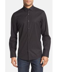 Calibrate | Black Trim Fit Sport Shirt for Men | Lyst