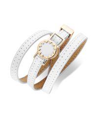 House of Harlow 1960 | White Gold-tone Leather Sunburst Wrap Bracelet | Lyst