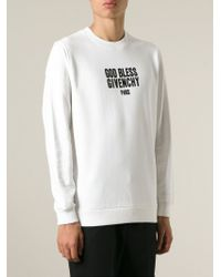 Givenchy - White 'God Bless ' Sweatshirt for Men - Lyst