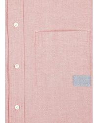 Paul Smith Salmon Pink Cotton Oxford Shirt for men