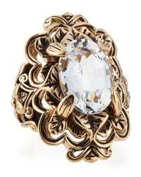 Stephen Dweck - Metallic Victoria Crystal Ring Size 7 - Lyst