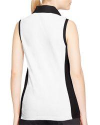 Lauren by Ralph Lauren | Black Sleeveless Cotton Polo Shirt | Lyst