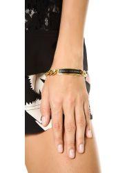 Marc By Marc Jacobs Metallic Enamel Id Bracelet Black