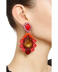 Vickisarge - Red Adele Big Earrings - Lyst