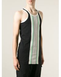 Y-3 - Black Striped Tank Top for Men - Lyst