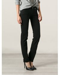 7 For All Mankind - Black 'Roxanne Silk Touch' Jeans - Lyst