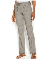 INC International Concepts - Gray Petite Ruched-Cuff Cargo Pants - Lyst