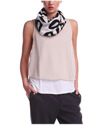 BOSS Orange | White Top 'topi' In Viscose And Cotton Blend | Lyst