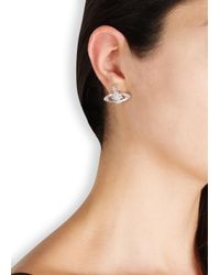 Vivienne Westwood - Metallic Crystal Embellished Orb Earrings - Lyst