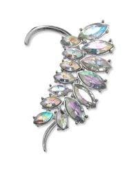 Material Girl - Metallic Silvertone Crystal Ear Cuff - Lyst