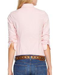 Polo Ralph Lauren | Pink Custom Fit Oxford Shirt | Lyst