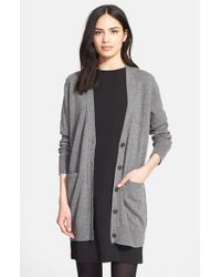 Vince | Gray Button Cardigan | Lyst