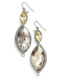 St. John | Metallic Swarovski Crystal French Wire Earrings | Lyst