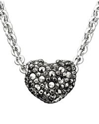 Judith Jack | Metallic Sterling Silver Marcasite & Pavé Crystal Reversible Heart | Lyst
