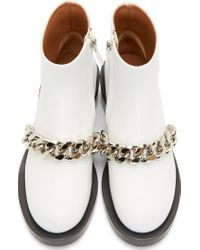 Givenchy White Chained Laura Boots