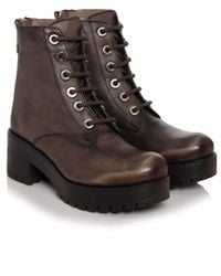 Inuovo Brown Mulligan Lace Up Boots