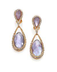 Alexis Bittar - Purple Elements Maldivian Mother-Of-Pearl & Crystal Doublet Drop Earrings - Lyst