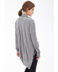 Forever 21 - Gray Heathered Drapey Knit Sweater You've Been Added To The Waitlist - Lyst